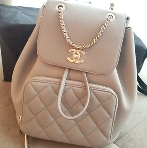 Chanel Gray Caviar 19P Business Affinity Backpack